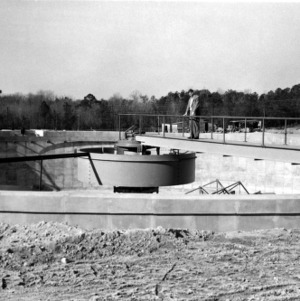 Dr. Nelson Nemerow at Walnut Sewage Treatment Plant
