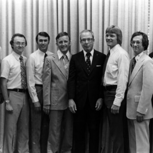 Ralph E. Fadum with group