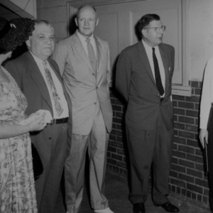 Dr. John W. Cell and others at ceremony