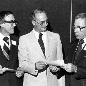 Dr. James K. Ferrell, Robert A. Howard, and Dean Ralph Fadum