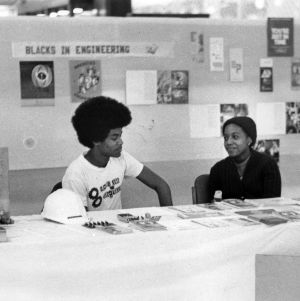 Exhibit booth from African Americans in Engineering Conference