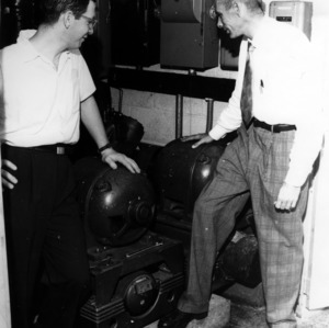 Bob Rozett and King R. Brose with Cold Room compressors