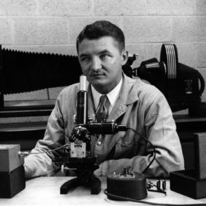 Dr. Floyd Brown in lab