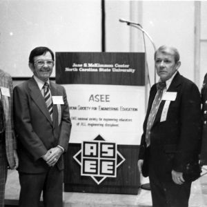 Larry K. Monteith, Earl I. Brown II, John F. Ely, and Anthony P. Simkus at ASEE meeting