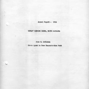 Annual report - 1914