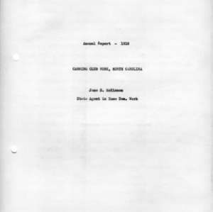 Annual report, 1916