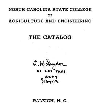 North Carolina State College of Agriculture and Engineering Catalog, 1923-1924