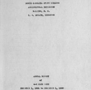 Annual report of 4-H Club work, December 1, 1931 to December 1, 1932