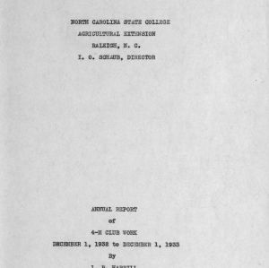 Annual report of 4-H Club work, December 1, 1932 to December 1, 1933