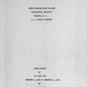 Annual report of 4-H Club work, December 1, 1934 to December 1, 1935