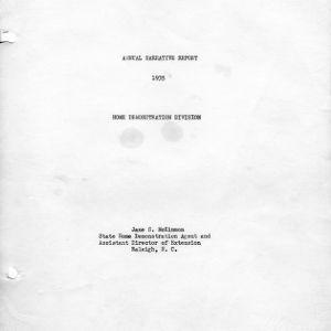 Annual narrative report