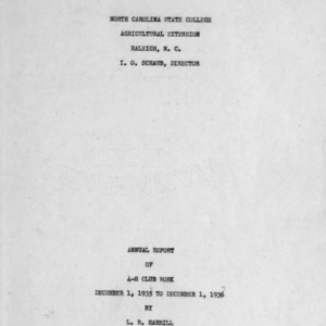 Annual report of 4-H Club work, December 1, 1935 to December 1, 1936