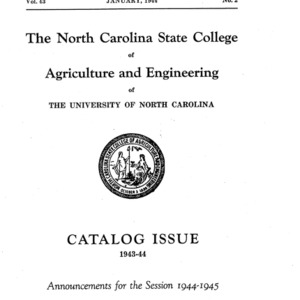 North Carolina State College of Agriculture and Engineering Catalog, 1944-1945