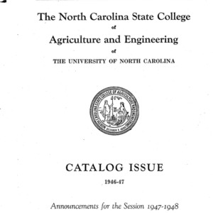 North Carolina State College of Agriculture and Engineering Catalog, 1947-1948
