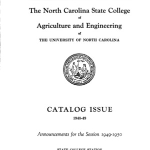 North Carolina State College of Agriculture and Engineering Catalog, 1949-1950