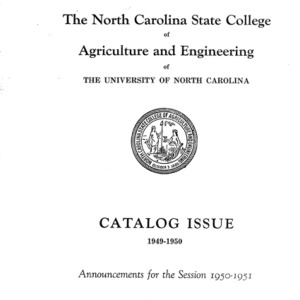 North Carolina State College of Agriculture and Engineering Catalog, 1950-1951