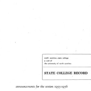 North Carolina State College Catalog, 1955-1956
