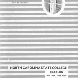 North Carolina State College Catalog, 1957-1958, 1958-1959