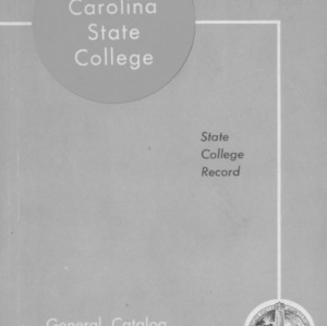 North Carolina State College General Catalog, 1961-1963