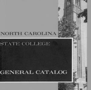 North Carolina State College General Catalog, 1962-1964