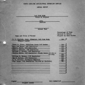 North Carolina Agricultural Extension annual report, 1966