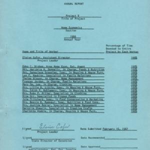 Project 5 home economics 1966