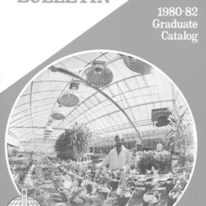 North Carolina State University Graduate Catalog, 1980-1982