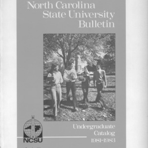 North Carolina State University Undergraduate Catalog, 1981-1983