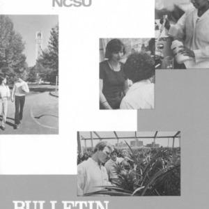 North Carolina State University Undergraduate Catalog, 1982-1984