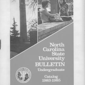 North Carolina State University Undergraduate Catalog, 1983-1985