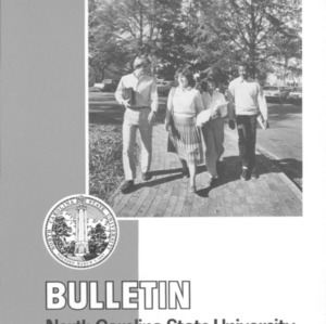 North Carolina State University Graduate Catalog, 1984-1986