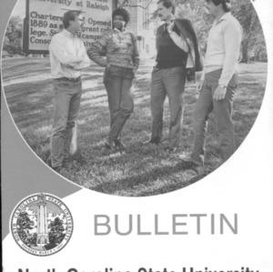 North Carolina State University Graduate Catalog, 1986-1988