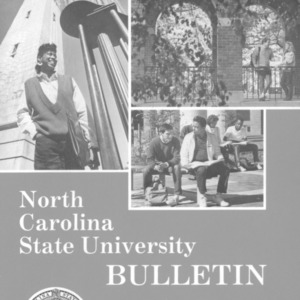 North Carolina State University Undergraduate Catalog, 1987-1989