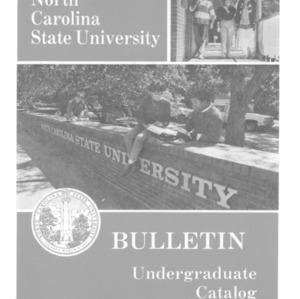 North Carolina State University Undergraduate Catalog, 1989-1991