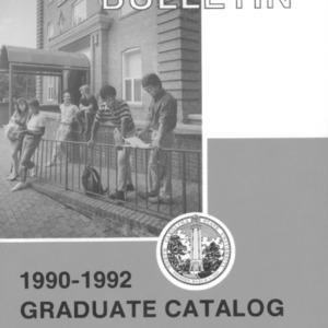 North Carolina State University Graduate Catalog, 1990-1992 (North Carolina State College Bulletin Vol. 89, No. 4)