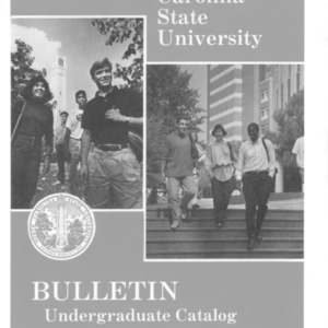 North Carolina State University Undergraduate Catalog, 1991-1993