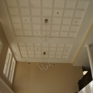 1911 Building renovations, new lobby ceiling
