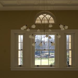 1911 Building renovations, interior lobby lights