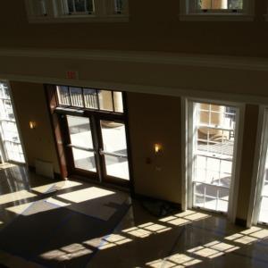 1911 Building renovations, interior lobby