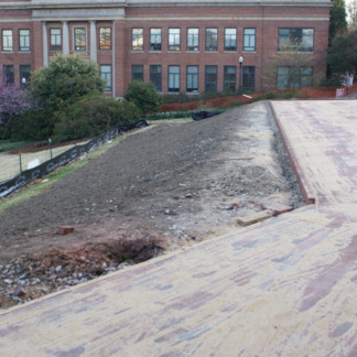 1911 Building landscape renovations, Page Hall in the background