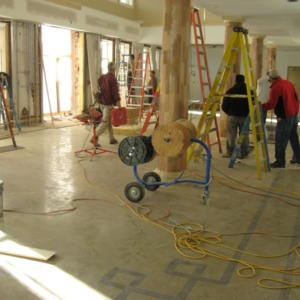 1911 Building renovations, lobby