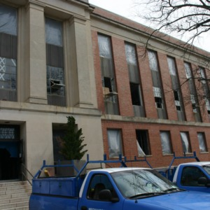 Withers Hall during renovations