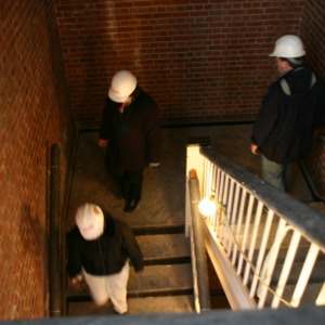 Touring Withers Hall during renovations