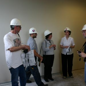 Touring  Withers Hall renovations