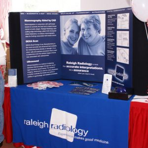 Raleigh Radiology table at Hoops for Hope