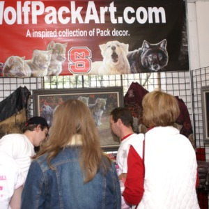 Wolfpack Art table at Hoops for Hope