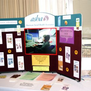CHASS Management Career Fair - American Social Health Association table