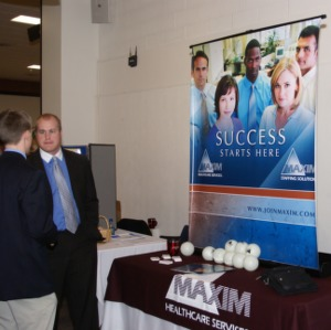 CHASS Management Career Fair - Maxim Healthcare Services table