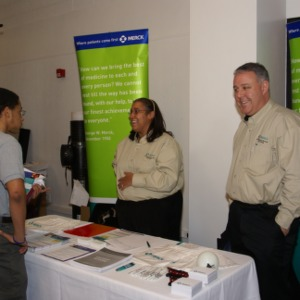 CHASS Management Career Fair - Merck table