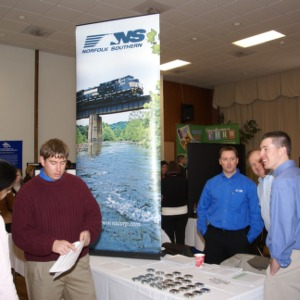 CHASS Management Career Fair - Norfolk Southern table
